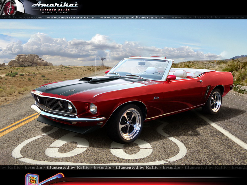 American Old Timer Cars | 1969 Ford Mustang Convertible 351 cui Windsor